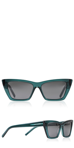 SL 276 Mica Green Cat Eye Sunglasses