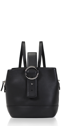 Addicted Backpack Black Leather
