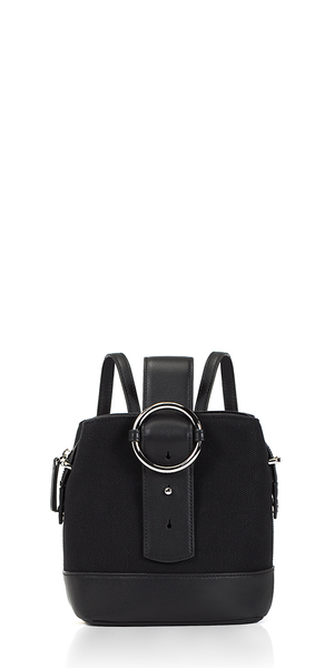 Addicted Mini Backpack Black Canvas/Silver