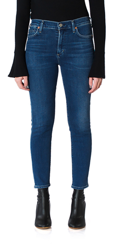 Rocket Crop High Rise Skinny Jeans in Retrograde
