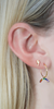 Mini Rainbow Hoop Earring