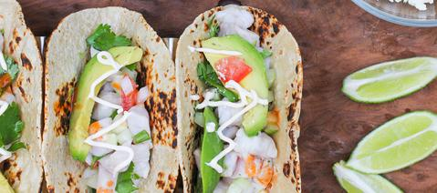 "Spicy Ceviche Low Carb Roti ""tacos"""