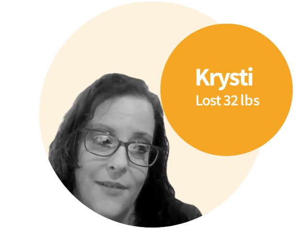 Krysti suffered from hypothyroidism and believed she could never lose the weight.