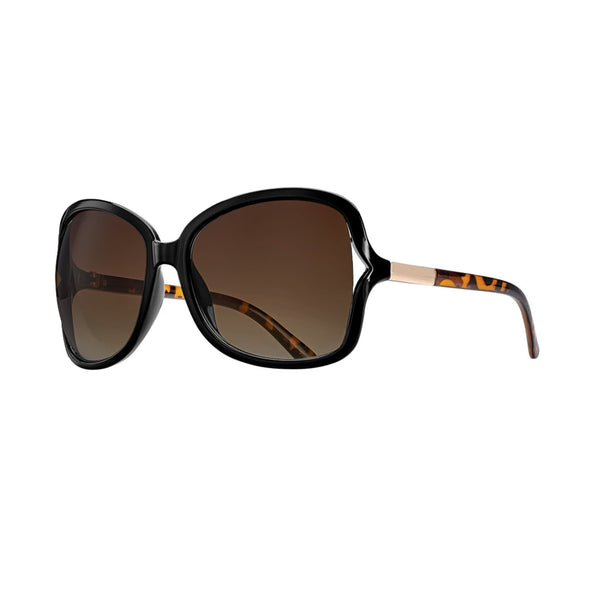 ANNE SUNGLASSES (Black Onyx / Amber Tortoise / Gradient Brown Polarized)