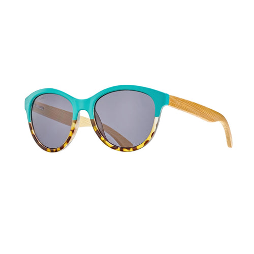 AUGUST  SUNGLASSES (Turquoise to Honey Tortoise / Smoke / Natural Bamboo)