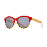 AUGUST  SUNGLASSES (Red to Honey Tortoise / Smoke / Natural Bamboo)