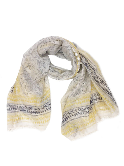 BELLA WRAP (YELLOW/ NAVY BLUE)