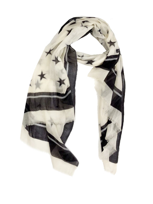 STAR WRAP (CREAM/ BLACK)