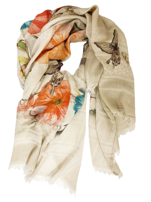 BOTANICAL WRAP (BEIGE/ MULTI)