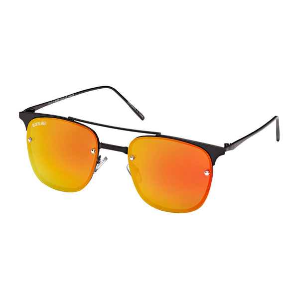 CRAWFORD UNISEX SUNGLASSES (BLACK/ RED MIRROR)