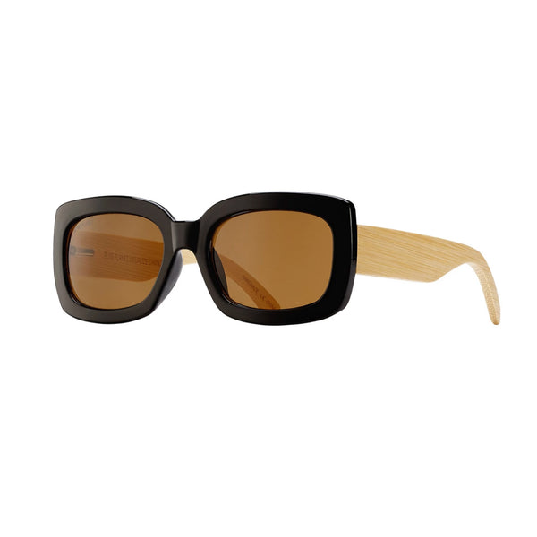 CAM SUNGLASSES (Black Onyx / Brown / Natural Bamboo)