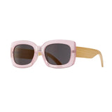 CAM SUNGLASSES (Blush Pink / Smoke / Natural Bamboo)