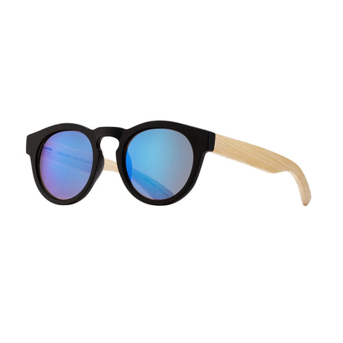 CLADER SUNGLASSES (Matte Black / Smoke Polarized / Natural Bamboo)