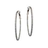 OVAL CRYSTAL HOOP EARRINGS
