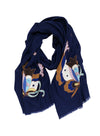 EMB. BUTTERFLY WRAP (NAVY/ MULTI)