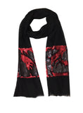 EMELIE BLOCK WRAP (BLACK/ DEEP RED)