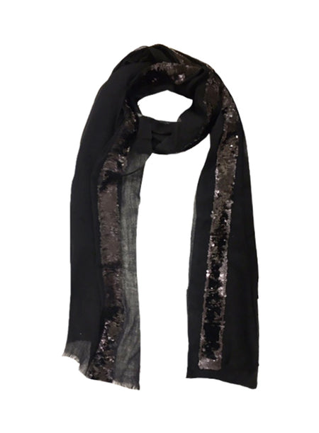 SEQUIN PYTHON WRAP (LARGE, BLACK/ RED)