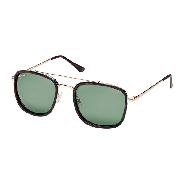 FISHER UNISEX SUNGLASSES (GOLD/ GREY-GREEN MIRROR)