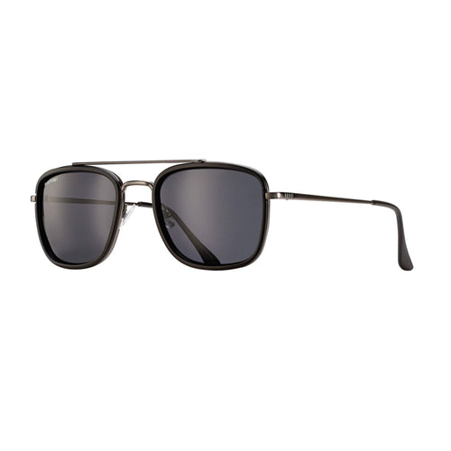 FISHER SUNGLASSES (Matte Gunmetal / Matte Black / Dark Smoke Polarized)