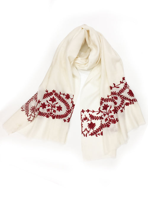 GARLAND WRAP (CREAM/ RED)