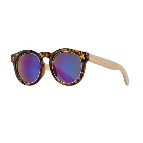 GOLDEN SUNGLASSES (Honey Tortoise / Gold / Blue Mirror / Natural Bamboo)