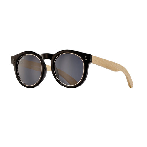 GOLDEN SUNGLASSES (Black Onyx / Gold / Smoke Polarized / Natural Bamboo)