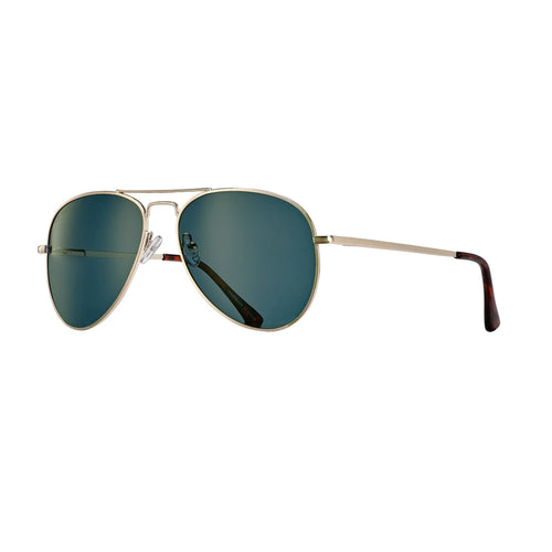 LEAR SUNGLASSES (Gold / Tortoise Tips / Blue Polarized)
