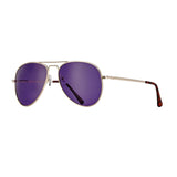 LEAR SUNGLASSES (Gold Tortoise Tips / Purple Polarized)