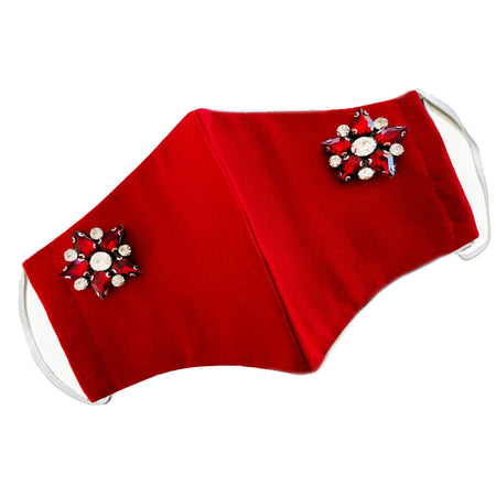 Applique' Flower Mask White