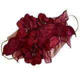 Flower Applique' Mask Burgundy