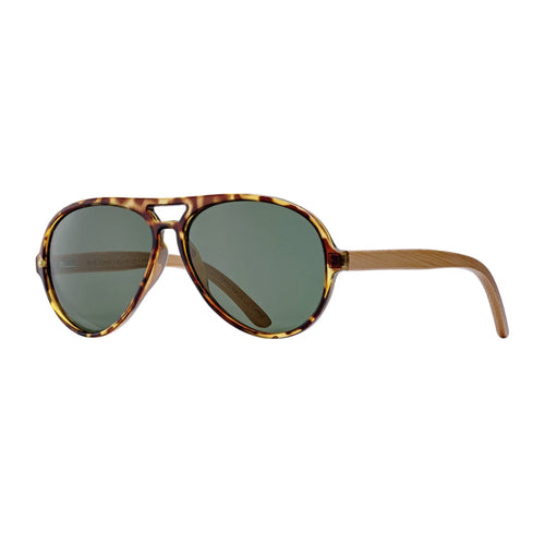 MARSHALL SUNGLASSES (Honey Tortoise / Grey-Green Polarized / Natural Bamboo)