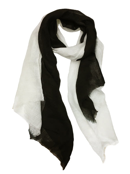 OMBRE CRISS CROSS WRAP (BLACK/ WHITE)