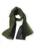 OMBRE WOOL WRAP (OLIVE/ BLACK)