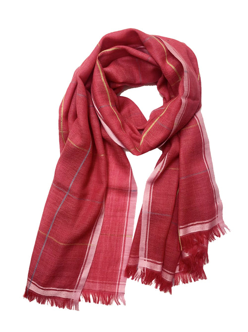 PLAID WRAP (FUCHSIA)