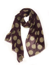 POLKA-DOT WRAP (PLUM/ GREY)