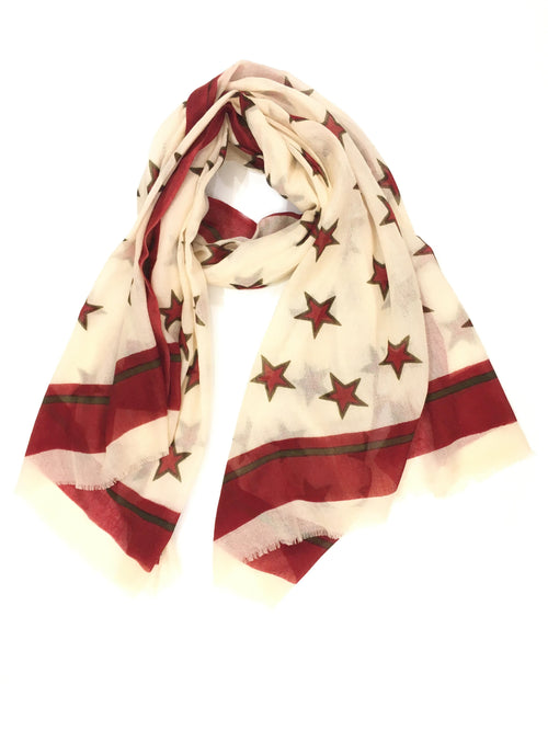 STAR WRAP (CREAM/ RED)