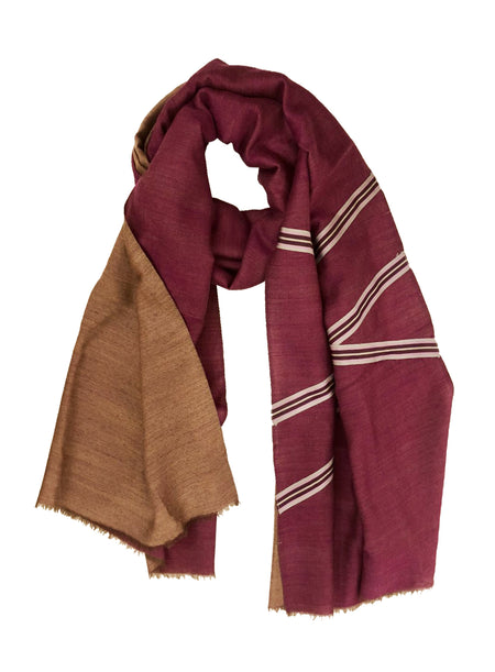 UNISEX PLAID WRAP (BROWN/ MUTI-COLOR)