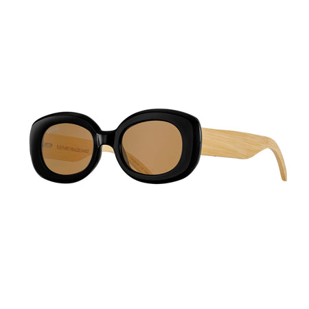 CLADER SUNGLASSES (Crystal Clear / Silver Mirror / Natural Bamboo)