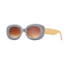 RYE  SUNGLASSES (Grey Blue / Gradient Brown / Natural Bamboo)