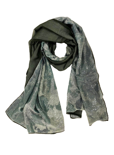 EMB. BUTTERFLY WRAP (OLIVE/ MULTI)