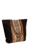 PYTHON PRINT SHOPPER BAG (BLACK)