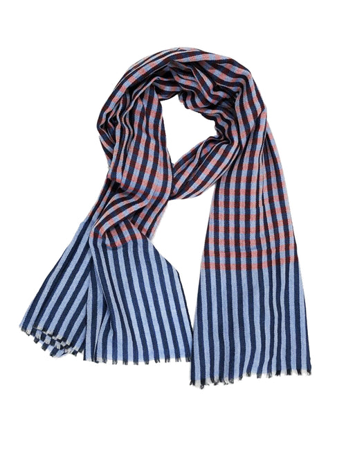 UNISEX MADRAS WRAP (BLUE/ RED)