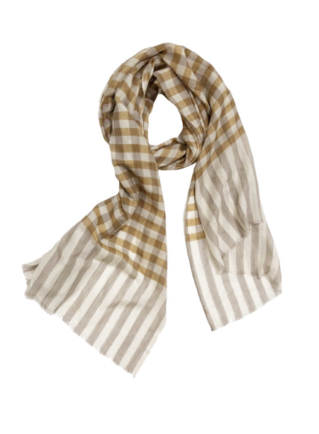 UNISEX STRIPES WRAP (BLUE/ GREY/ MAROON)