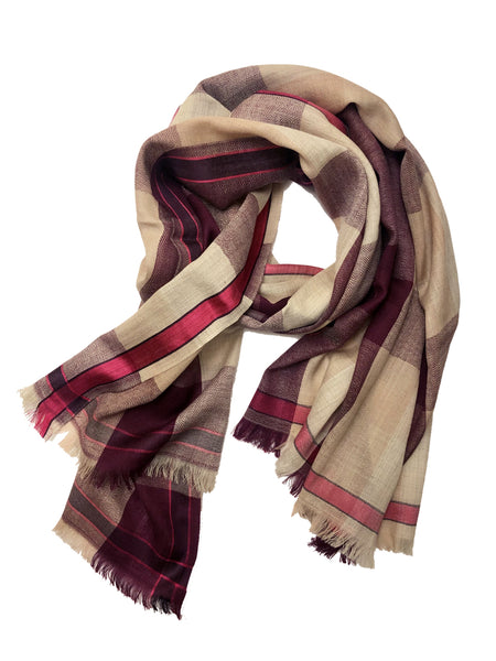 UNISEX MADRAS WRAP (CREAM)