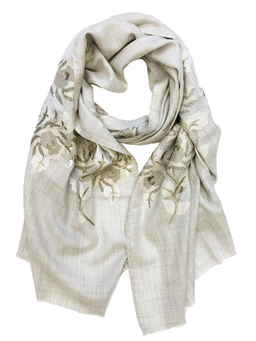 VINTAGE ROSE WRAP (CREAM/ GOLD)