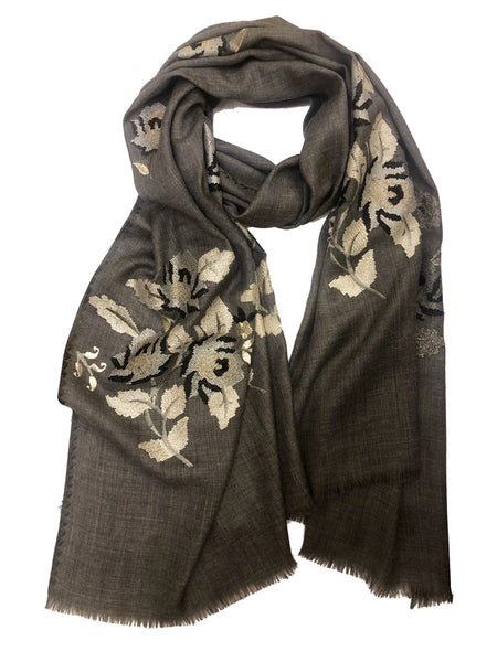 VINTAGE ROSE WRAP (DARK GREY/ GOLD)