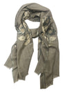 VINTAGE ROSE WRAP (GREY/ GOLD)