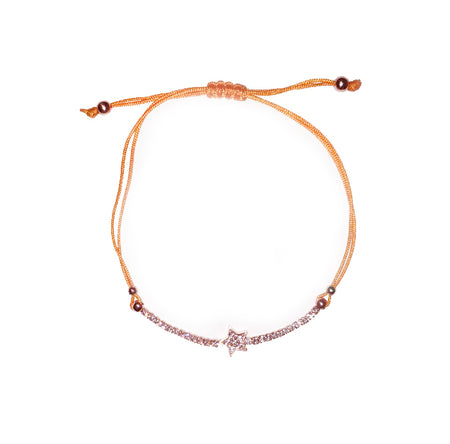 STAR BRACELET (BLACK/ ROSE GOLD)