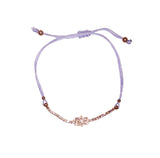 HAMSA BRACELET SMALL ICON (LILAC/ ROSE GOLD)