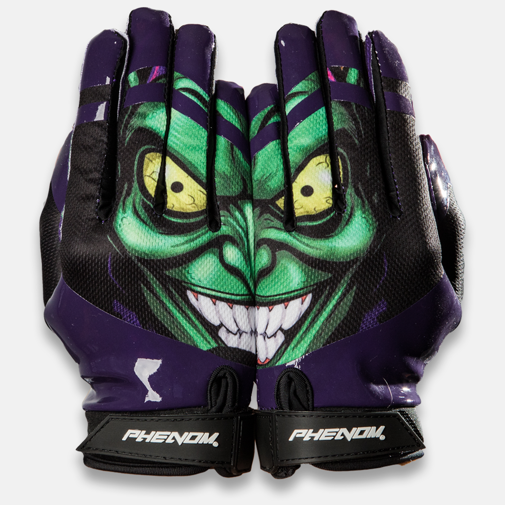 VPS3: Green Villain Football Gloves - Phenom Elite Brand
